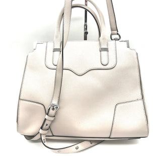 "Primary Photo - BRAND: REBECCA MINKOFF STYLE: HANDBAG DESIGNER COLOR: BEIGE SIZE: MEDIUM SKU: 262-26275-74461APPROX. 13""L X 10.5""H X 4""D. PRICE REFLECTS SOME SLIGHT SPOTS"