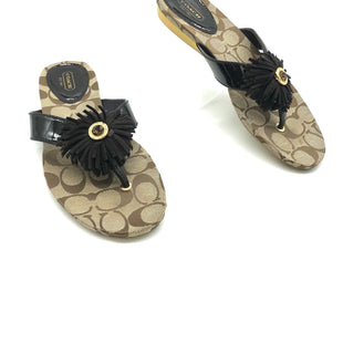 Primary Photo - BRAND: COACH STYLE: FLIP FLOPS COLOR: BROWN SIZE: 8.5 SKU: 262-26275-73085DESIGNER BRAND FINAL SALE AS IS