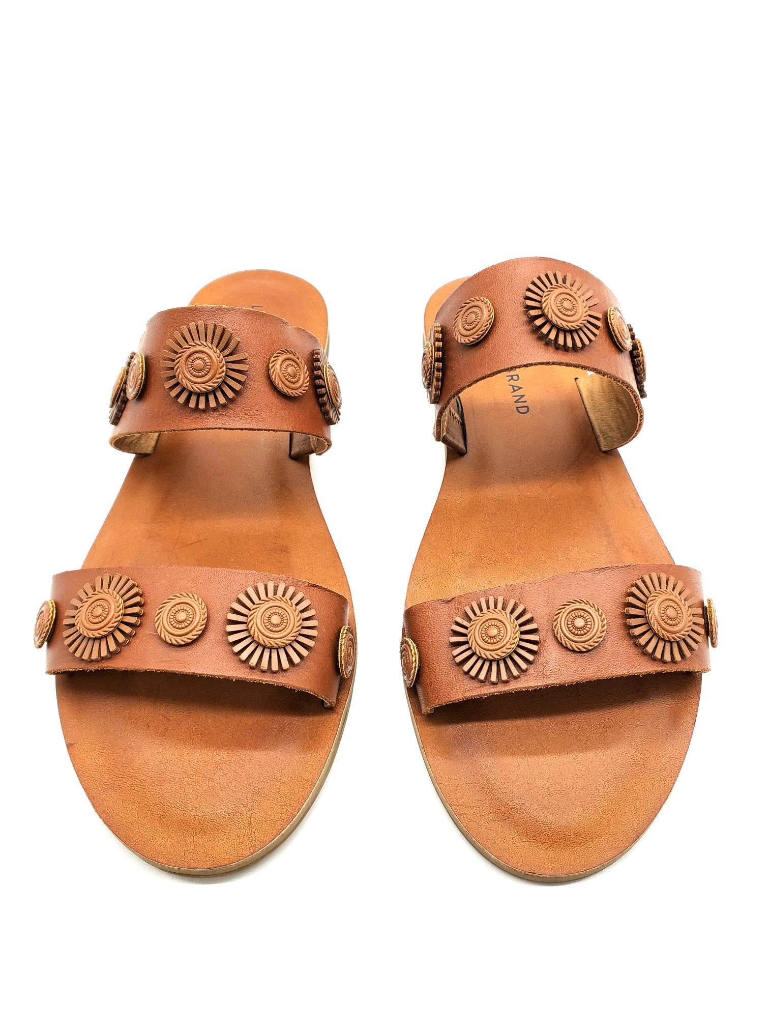 Primary Photo - BRAND: LUCKY BRAND <BR>STYLE: SANDALS FLAT <BR>COLOR: BROWN <BR>SIZE: 7.5 <BR>SKU: 262-262101-994<BR>AS IS