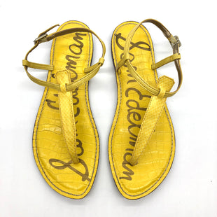 Primary Photo - BRAND: SAM EDELMAN STYLE: FLIP FLOPS COLOR: YELLOW SIZE: 9 SKU: 262-26241-47589