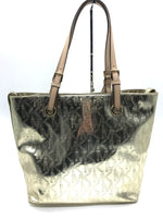 "Photo #1 - BRAND: MICHAEL KORS <BR>STYLE: HANDBAG DESIGNER <BR>COLOR: GOLD <BR>SIZE: MEDIUM <BR>SKU: 262-26285-2976<BR><BR>APPROX. 15""L X 11.5""H X 6""D. SLIGHT SCRATCHES JUST TO BOTTOM"