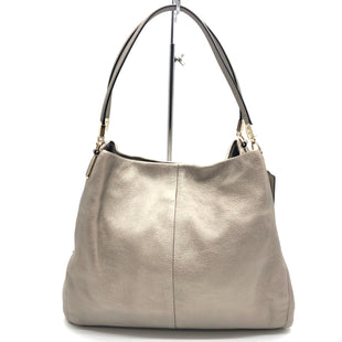"Primary Photo - BRAND: COACH STYLE: HANDBAG DESIGNER COLOR: METALLIC SIZE: MEDIUM 11.5""H X 14""L X 4.5""WDROP: 7.5""SKU: 262-26275-77634IN GREAT SHAPE AND CONDITION"