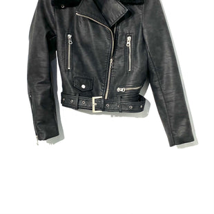 Primary Photo - BRAND: ZARA BASIC STYLE: JACKET OUTDOOR COLOR: BLACK SIZE: L SKU: 262-26275-71811FAUX LEATHER