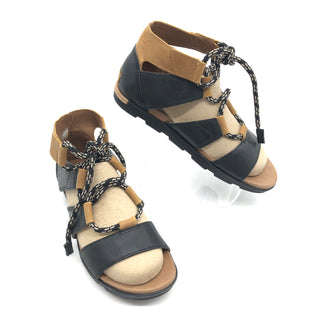 Primary Photo - BRAND: SOREL STYLE: SANDALS FLAT COLOR: BLACK SIZE: 9 SKU: 262-26275-75636IN GREAT SHAPE AND CONDITION