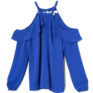 Primary Photo - BRAND: MICHAEL KORS STYLE: BLOUSE COLOR: BLUE SIZE: XS SKU: 262-26275-70447