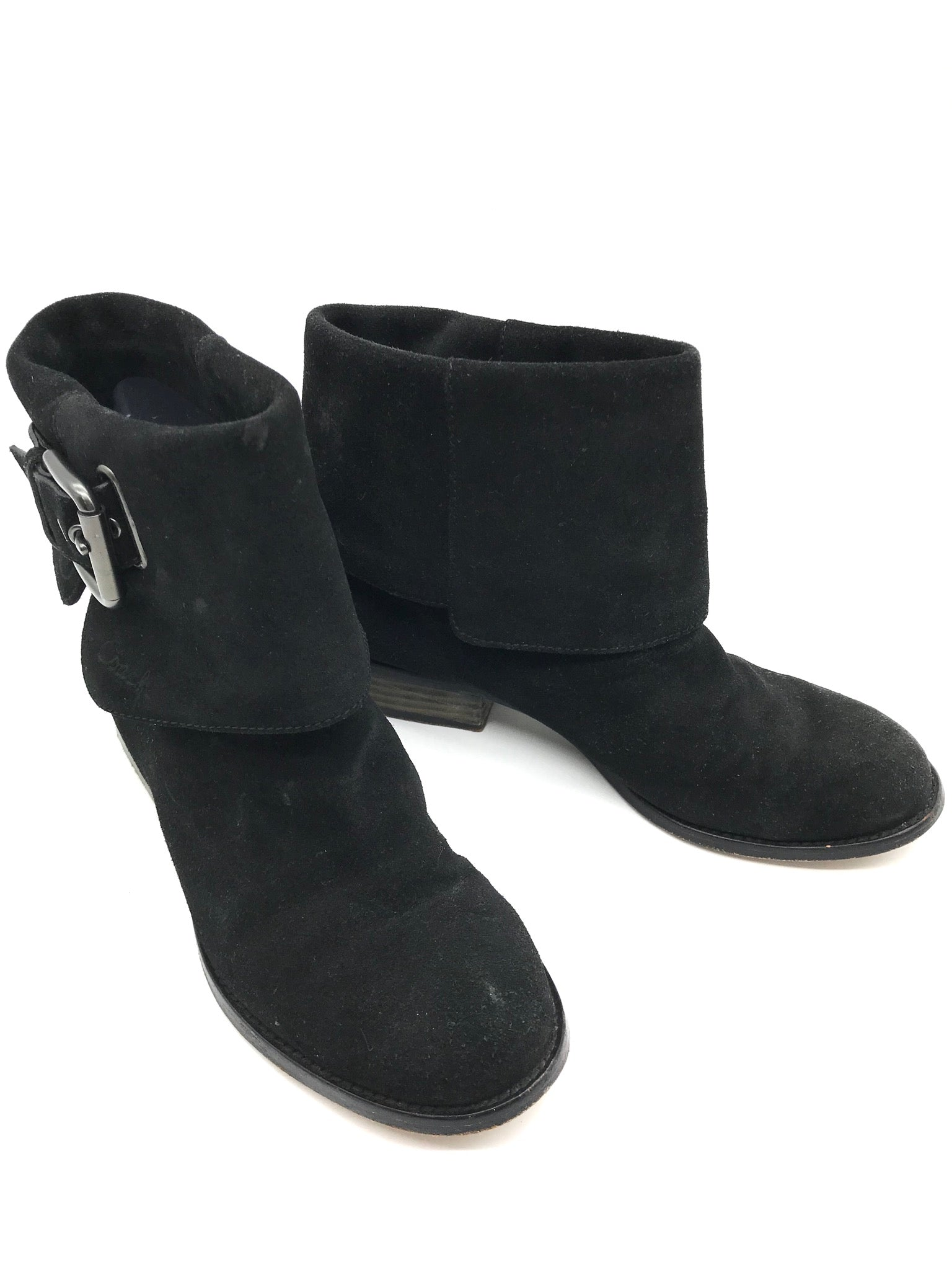 Photo #3 - BRAND: COACH <BR>STYLE: BOOTS ANKLE <BR>COLOR: BLACK <BR>SIZE: 7.5 <BR>SKU: 262-26275-54673<BR>SOME WEAR AROUND THE TOES - AS IS<BR>DESIGNER BRAND - FINAL SALE