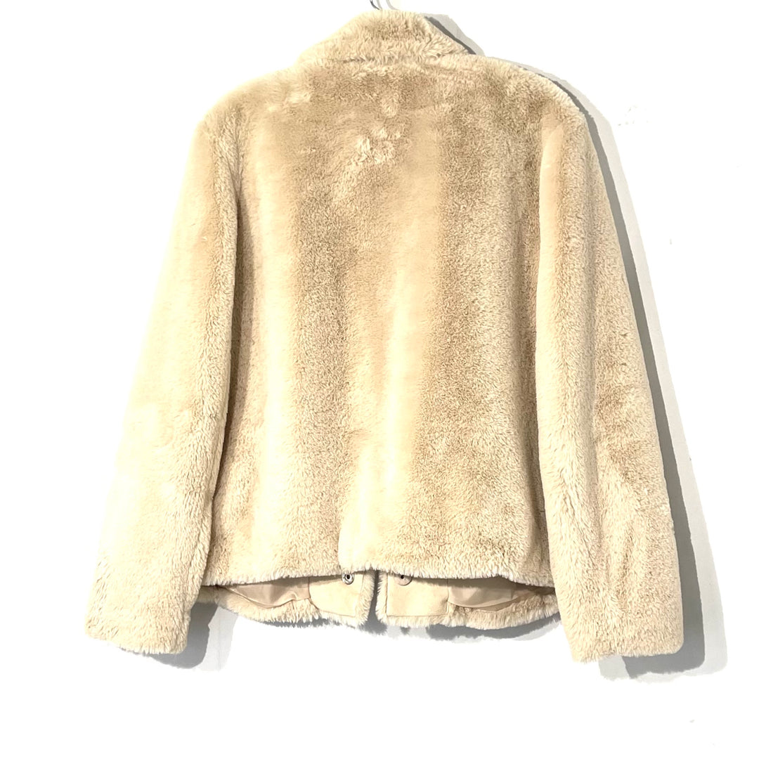 Photo #1 - BRAND: DIVERSION H & M<BR>STYLE: JACKET OUTDOOR <BR>COLOR: BEIGE <BR>SIZE: M <BR>SKU: 262-26275-74389<BR>FAUX FUR