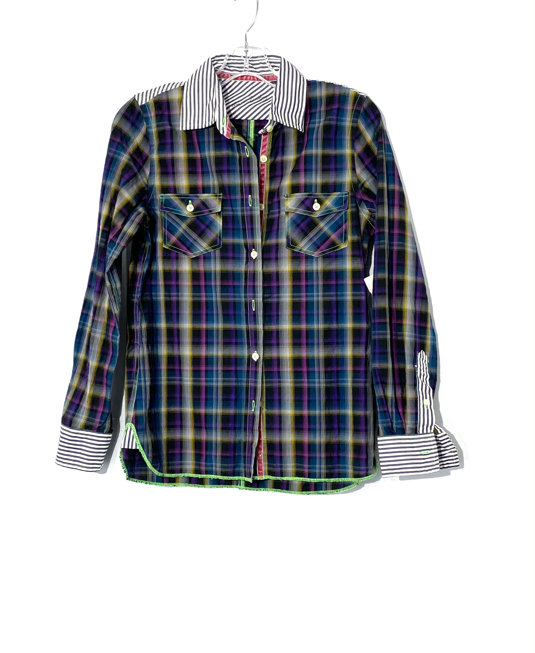 Primary Photo - BRAND:    ARNOLD ZIMBERG<BR>STYLE: TOP LONG SLEEVE <BR>COLOR: PLAID <BR>SIZE: S <BR>OTHER INFO: ARNOLD ZIMBERG  - <BR>SKU: 262-26275-72087