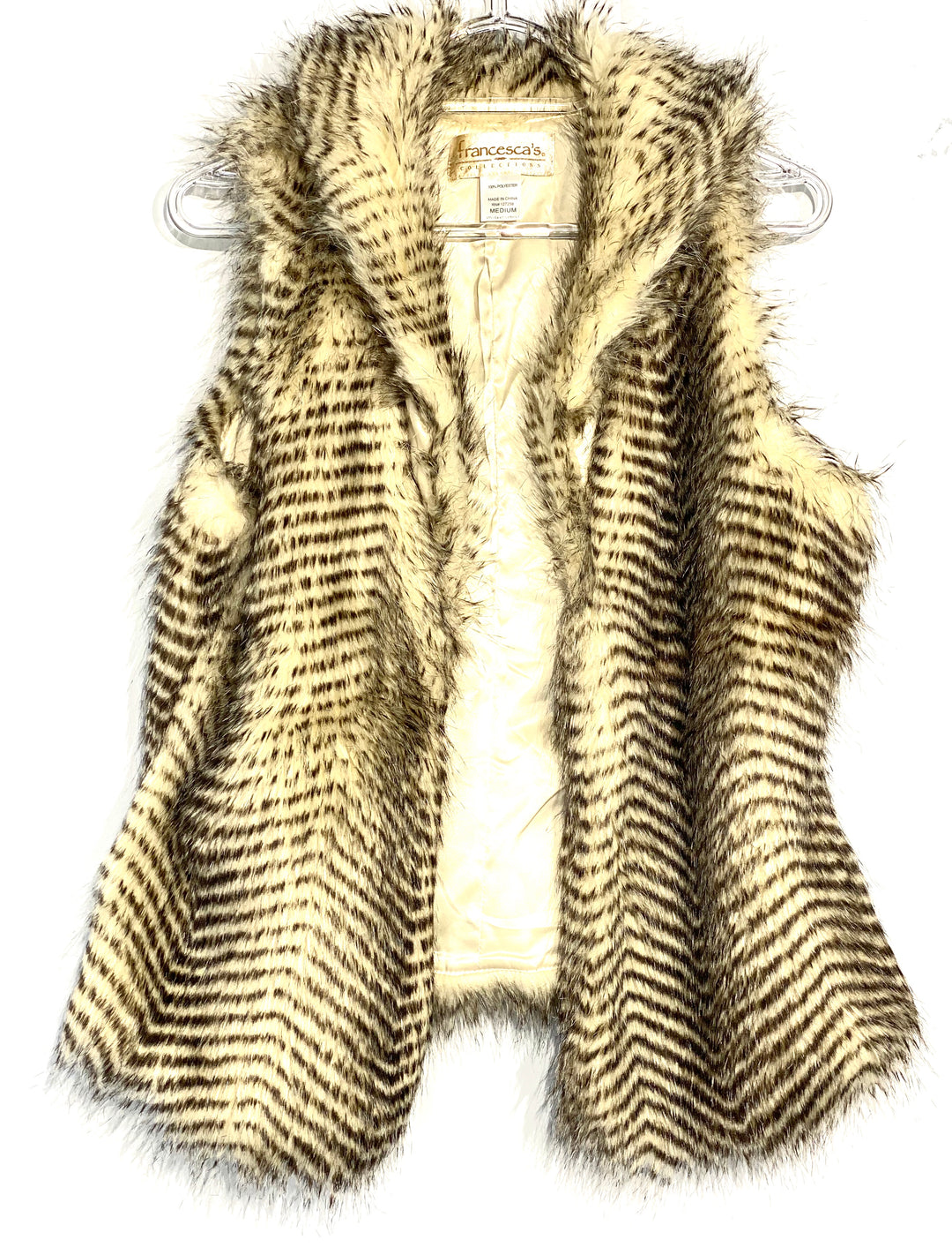 Primary Photo - BRAND: FRANCESCA'S <BR>STYLE: VEST <BR>COLOR: ANIMAL PRINT <BR>SIZE: M <BR>SKU: 262-26211-139534