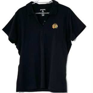 Primary Photo - BRAND:    ANTIQUASTYLE: ATHLETIC TOP SHORT SLEEVE COLOR: BLACK SIZE: XL OTHER INFO: ANTIGUA - SKU: 262-26211-141888