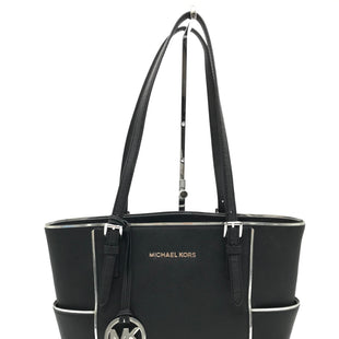 "Primary Photo - BRAND: MICHAEL KORS STYLE: HANDBAG DESIGNER COLOR: BLACK SIZE: MEDIUM 10""H X 14""L X 5.2""W STRAP DROP: 10""SKU: 262-26275-71155SLIGHT SPOTS • GENTLE WEAR • AS IS"