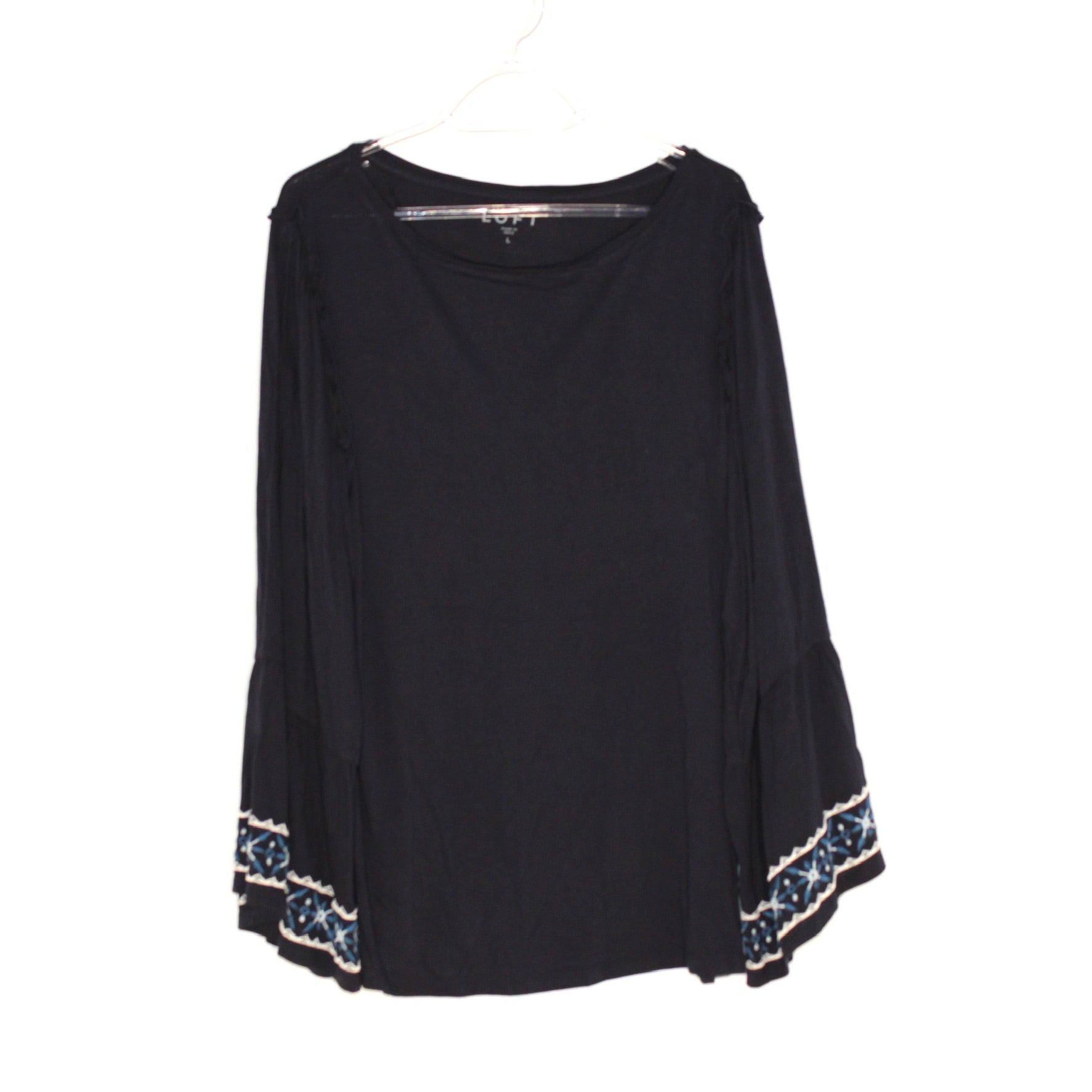 Primary Photo - BRAND: ANN TAYLOR LOFT <BR>STYLE: TOP LONG SLEEVE <BR>COLOR: NAVY <BR>SIZE: L <BR>SKU: 262-26275-44804