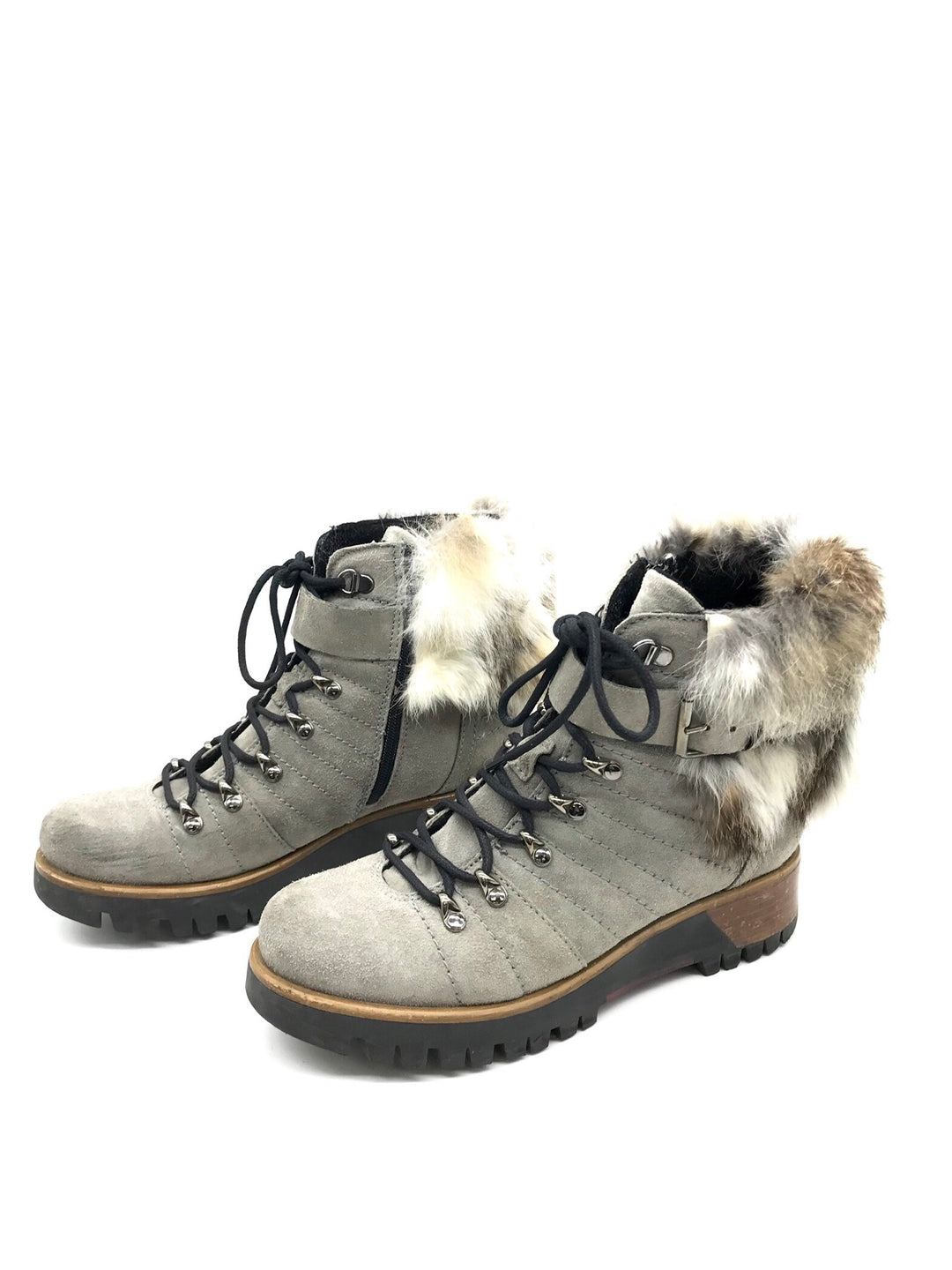 Photo #3 - BRAND:    CLOTHES MENTOR <BR>STYLE: BOOTS ANKLE <BR>COLOR: GREY <BR>SIZE: 7 <BR>OTHER INFO: MANAS  - <BR>SKU: 262-26275-69242<BR>AS IS