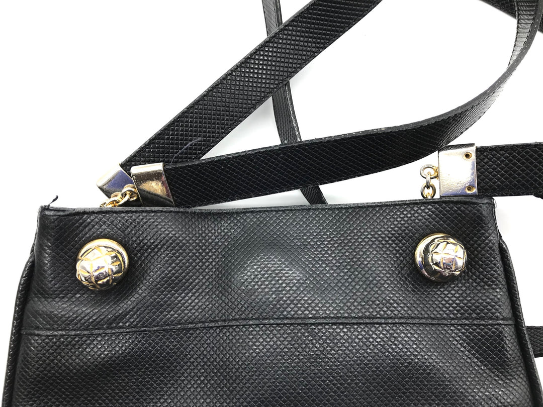 "Photo #2 - <P>BRAND: BOTTEGA VENETA <BR>STYLE: HANDBAG DESIGNER <BR>COLOR: BLACK <BR>SIZE: SMALL <BR>SKU: 262-26211-130179<BR><BR>PRICE REFLECTS SOME GENTLE WEAR AS SHOWN. APPROX. 8.5"" X 10.5""</P>"