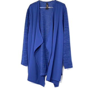 Primary Photo - BRAND: MELISSA MCCARTHY STYLE: SWEATER CARDIGAN LIGHTWEIGHT COLOR: ROYAL BLUE SIZE: 2X SKU: 262-26211-143525
