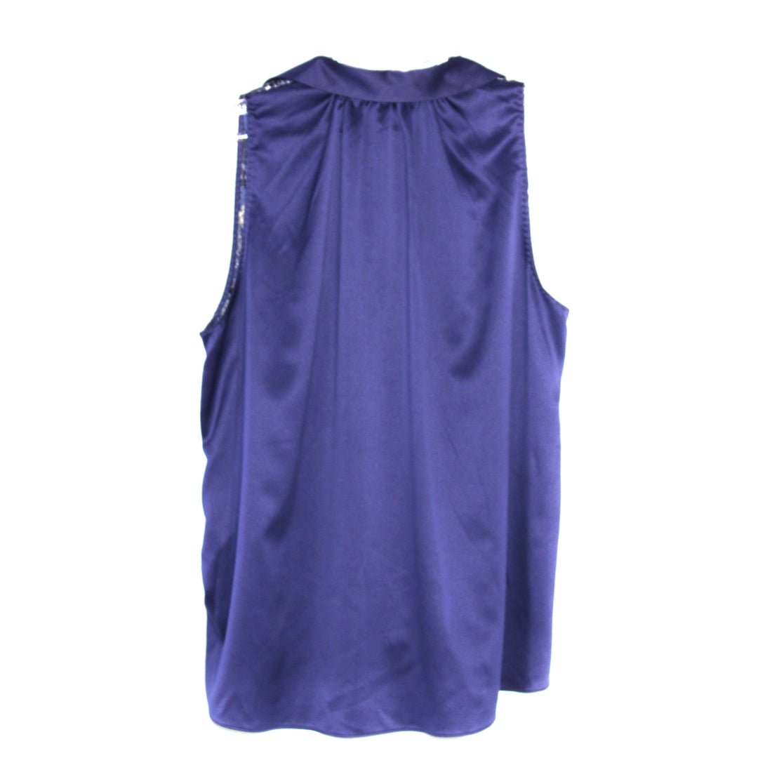 Photo #1 - BRAND: TAHARI <BR>STYLE: TOP SLEEVELESS <BR>COLOR: BLUE <BR>SIZE: XL <BR>SKU: 262-26211-136534