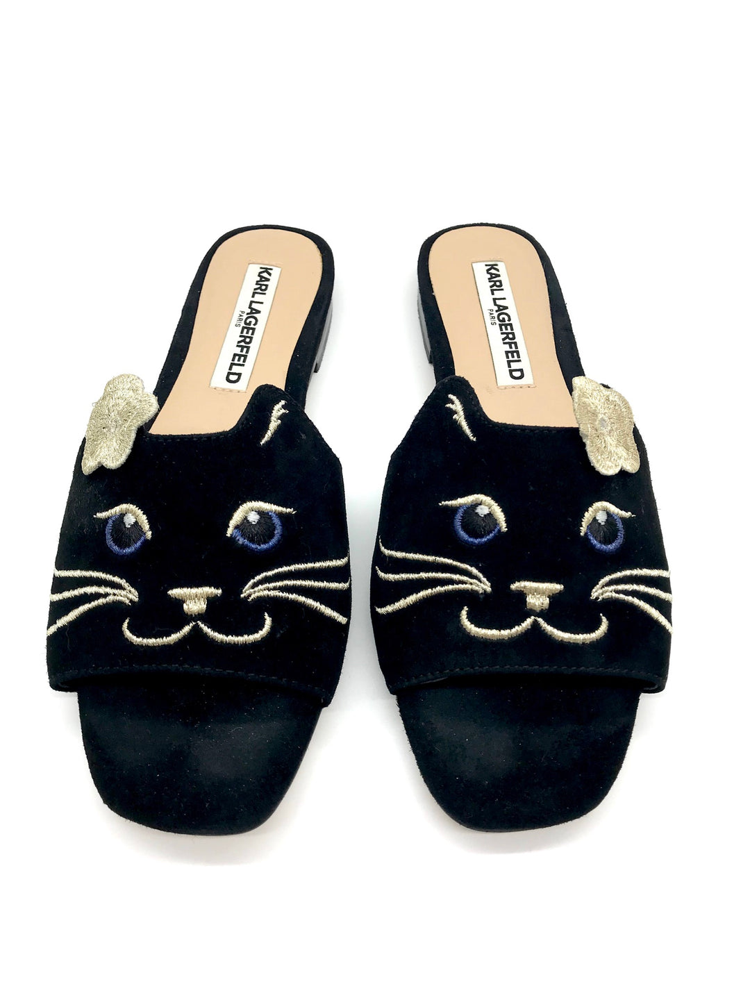 Primary Photo - BRAND: KARL LAGERFELD <BR>STYLE: SANDALS FLAT <BR>COLOR: BLACK <BR>SIZE: 6 <BR>SKU: 262-26275-65272<BR>GENTLE WEAR - AS IS