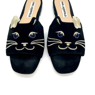 Primary Photo - BRAND: KARL LAGERFELD STYLE: SANDALS FLAT COLOR: BLACK SIZE: 6 SKU: 262-26275-65272GENTLE WEAR - AS IS