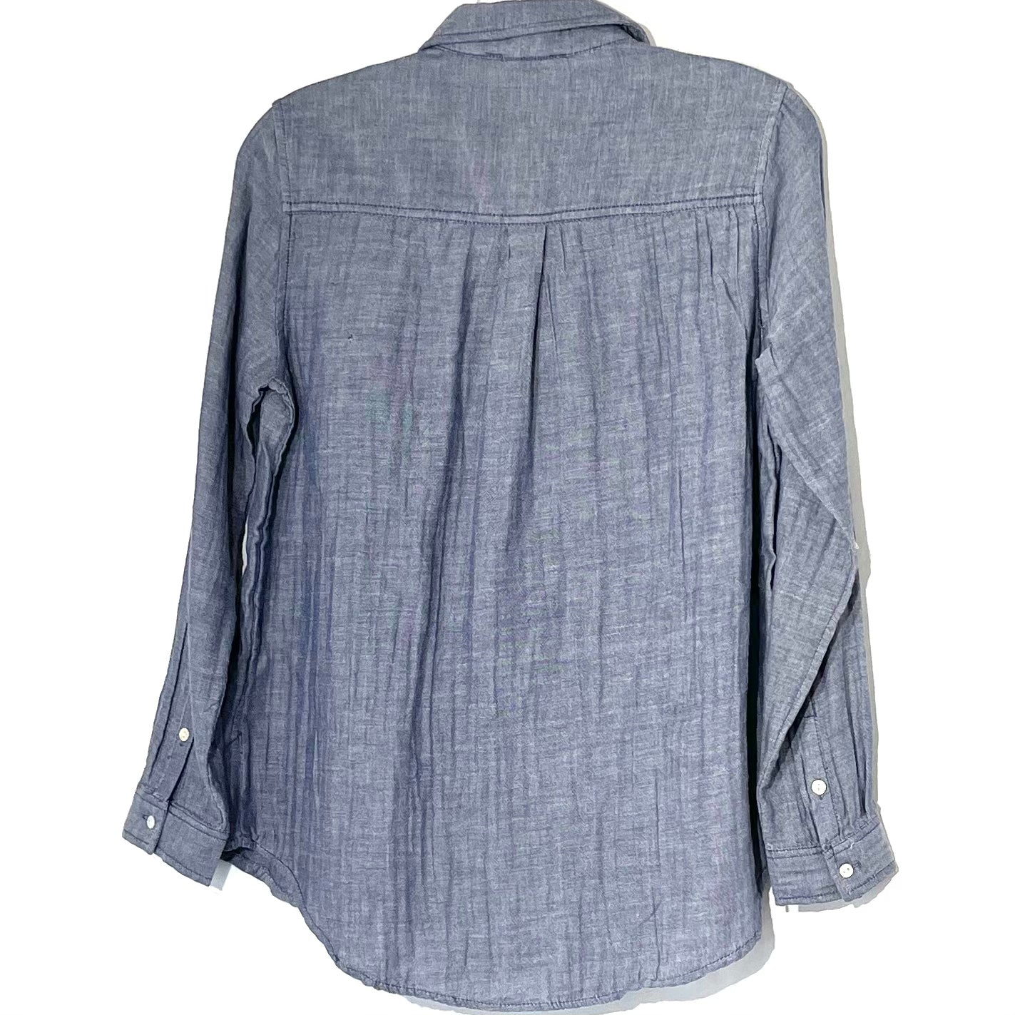 Photo #1 - BRAND: BEACHLUNCHLOUNGE <BR>STYLE: TOP LONG SLEEVE <BR>COLOR: BLUE <BR>SIZE: XS <BR>SKU: 262-26275-75257<BR>100% COTTON
