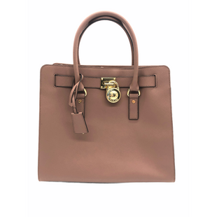"Primary Photo - BRAND: MICHAEL KORS STYLE: HANDBAG DESIGNER COLOR: TAN SIZE: LARGE SKU: 262-262101-3536APPROX. 14""L X 13""H X 6""D. HANDLE DROP APPROX. 5"", STRAP DROP APPROX. 11"". COUPLE SLIGHT SPOTS"