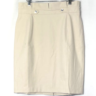 Primary Photo - BRAND: WHITE HOUSE BLACK MARKET STYLE: SKIRT COLOR: BEIGE SIZE: L SKU: 262-26275-76692