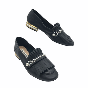 Primary Photo - BRAND: KARL LAGERFELD STYLE: SHOES FLATS COLOR: BLACK SIZE: 6.5 SKU: 262-26211-145680IN GREAT SHAPE AND CONDITION