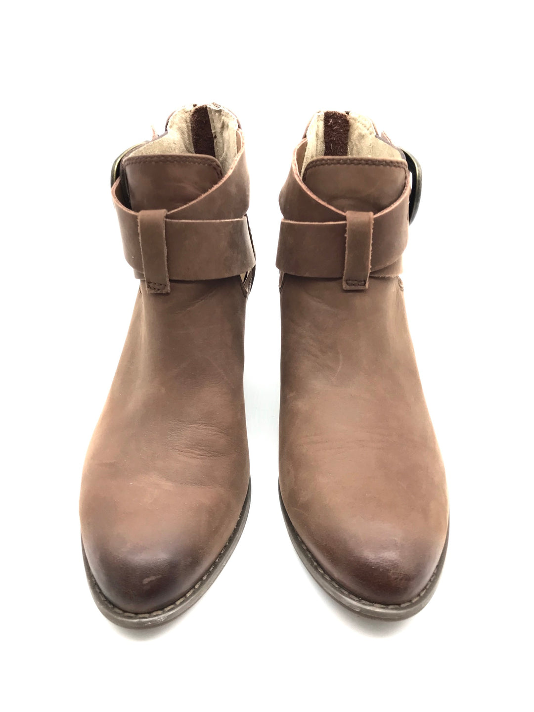 Photo #1 - BRAND: VINCE <BR>STYLE: BOOTS ANKLE <BR>COLOR: TAN <BR>SIZE: 9 <BR>SKU: 262-262101-537<BR>AS IS