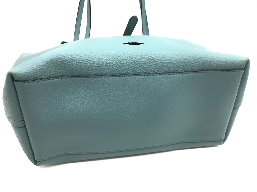 "Photo #3 - BRAND: COACH <BR>STYLE: HANDBAG DESIGNER <BR>COLOR: TEAL <BR>SIZE: LARGE 11""H X 18""L X 6.8""W<BR>HANDLE DROP: 11""<BR>SKU: 262-26241-43323<BR>LIKE NEW CONDITION"