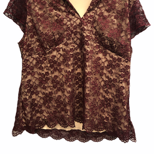 Primary Photo - BRAND: LANE BRYANT STYLE: TOP SHORT SLEEVE COLOR: MAROON SIZE: 2X SKU: 262-26211-145795