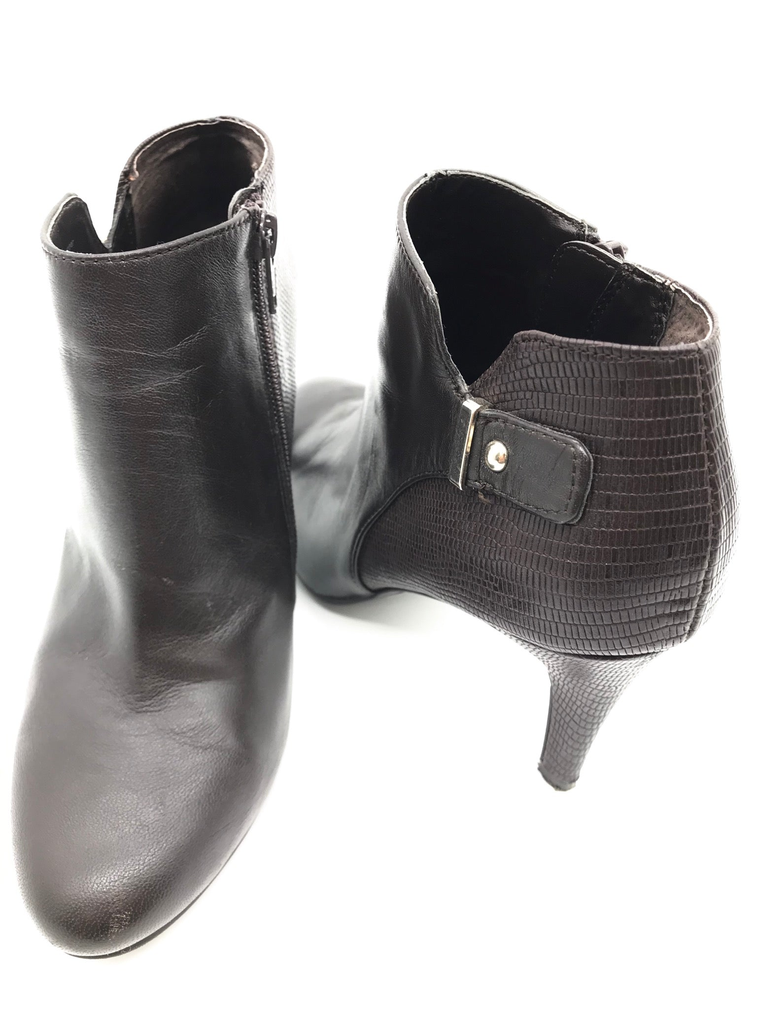 Photo #1 - BRAND: ALFANI <BR>STYLE: BOOTS ANKLE <BR>COLOR: BROWN <BR>SIZE: 7 <BR>SKU: 262-26298-534<BR>GENTLE WEAR - AS IS