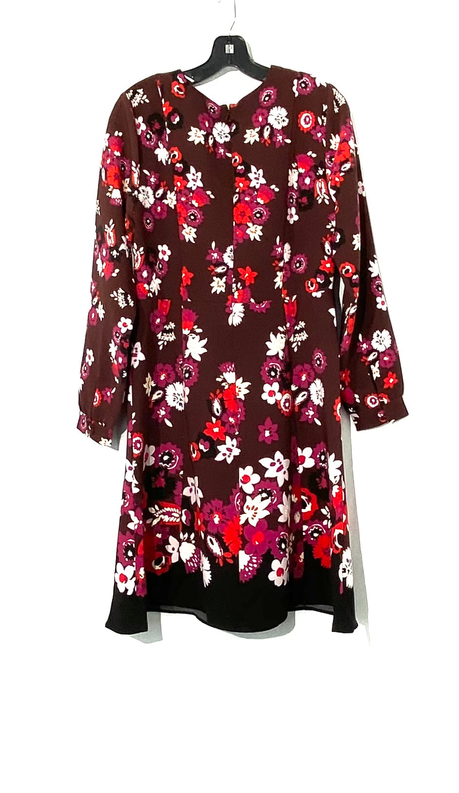 Photo #1 - BRAND: ANN TAYLOR FACTORY<BR>STYLE: DRESS SHORT LONG SLEEVE <BR>COLOR: FLORAL <BR>SIZE: M /8<BR>SKU: 262-26275-71771