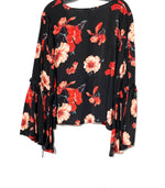 Photo #1 - BRAND: LEITH <BR>STYLE: BLOUSE <BR>COLOR: FLORAL <BR>SIZE: M <BR>SKU: 262-26211-130993
