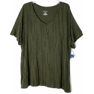 Primary Photo - BRAND: APT 9 STYLE: TOP SHORT SLEEVE COLOR: OLIVE SIZE: 2X SKU: 262-26241-47557