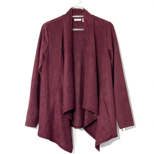 Primary Photo - BRAND: LOGO STYLE: SWEATER BLAZER JACKET COLOR: MAROON SIZE: S SKU: 262-26275-74080FAUX SUEDE LOOK