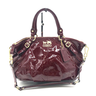 "Primary Photo - BRAND: COACH STYLE: HANDBAG DESIGNER COLOR: MAROON RED SIZE: MEDIUM SKU: 262-26275-74107AS IS SLIGHT WEAR DESIGNER BRAND FINAL SALE APPROX 13""X9""X3"""