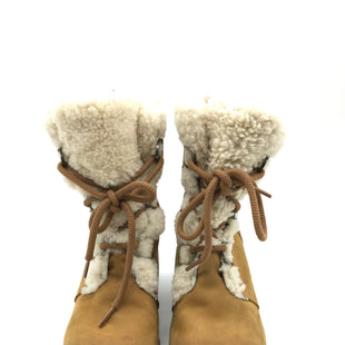 Primary Photo - BRAND: SOREL STYLE: JOAN OF ARCTIC WEDGE II SHEARLING BOOT COLOR: CAMEL SIZE: 9.5 SKU: 262-26241-39489GENTLE WEAR SHOWS AS IS DESIGNER BRAND - FINAL SALE