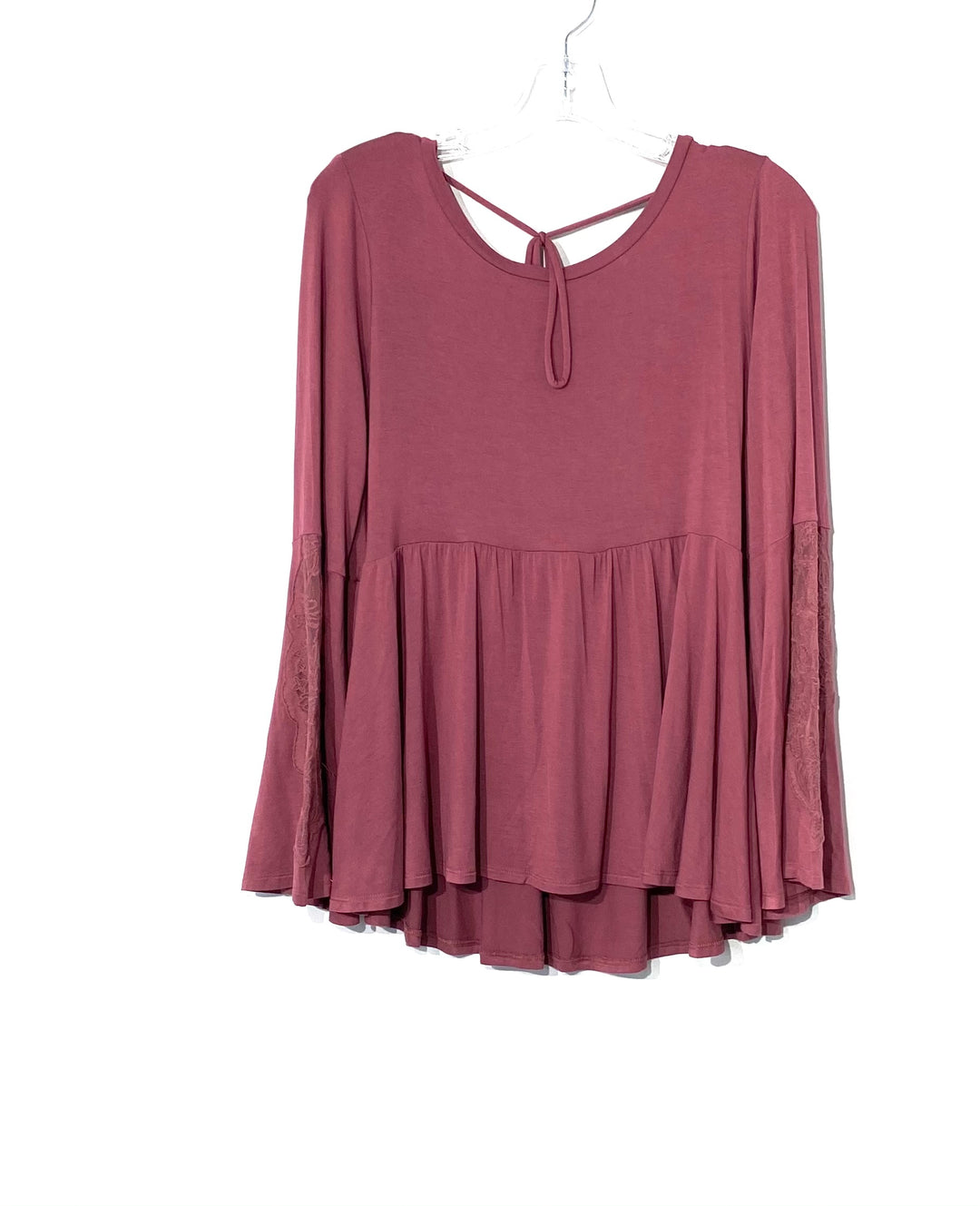 Photo #1 - BRAND: AMERICAN EAGLE <BR>STYLE: TOP LONG SLEEVE <BR>COLOR: MAUVE<BR>SIZE: L <BR>SKU: 262-26275-71202