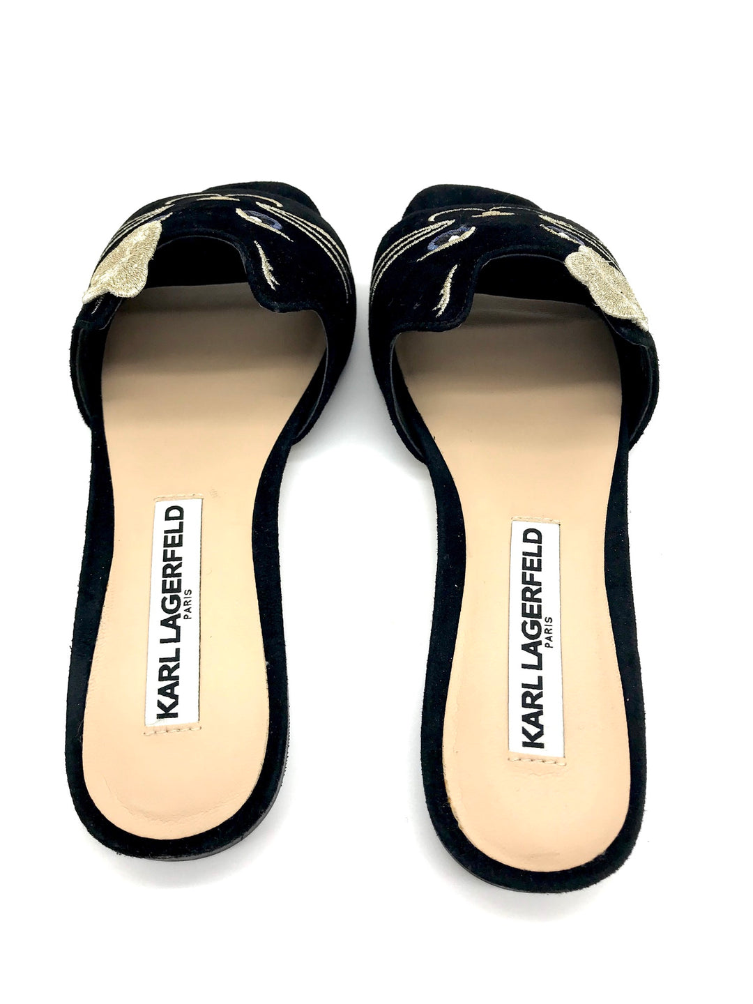 Photo #1 - BRAND: KARL LAGERFELD <BR>STYLE: SANDALS FLAT <BR>COLOR: BLACK <BR>SIZE: 6 <BR>SKU: 262-26275-65272<BR>GENTLE WEAR - AS IS