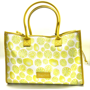 "Primary Photo - BRAND: DOONEY AND BOURKE STYLE: HANDBAG DESIGNER COLOR: LEMON SIZE: LARGE SKU: 262-26275-76630APPROX. 16""L X 10.5""H X 7""D. MAY HAVE COUPLE VERY SLIGHT SPOTS TO PATTERN"