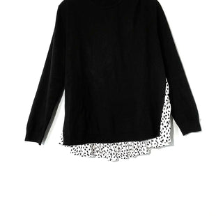 Primary Photo - BRAND: ANN TAYLOR STYLE: SWEATER LIGHTWEIGHT COLOR: BLACK WHITE SIZE: L SKU: 262-26241-44507