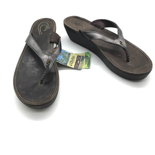 Primary Photo - BRAND:    CLOTHES MENTOR STYLE: FLIP FLOPS COLOR: METALLIC SIZE: 11 SKU: 262-26275-71984AS IS MARKS (STYLE)