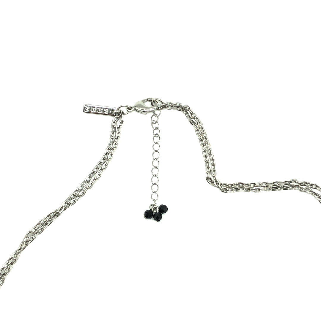 Photo #2 - BRAND:  WHITE HOUSE BLACK MARKET <BR>STYLE: LONG NECKLACE <BR>COLOR: BLACK | SILVER<BR>SKU: 262-26275-72898<BR>AS IS