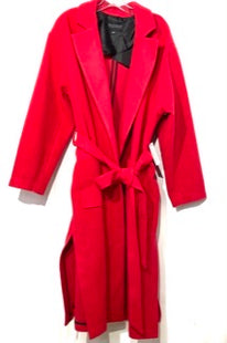 Primary Photo - BRAND: ELOQUII STYLE: COAT COLOR: HOT REDDISH PINK SIZE: 1X (18/20)SKU: 262-26275-6764925% WOOLDESIGNER FINAL
