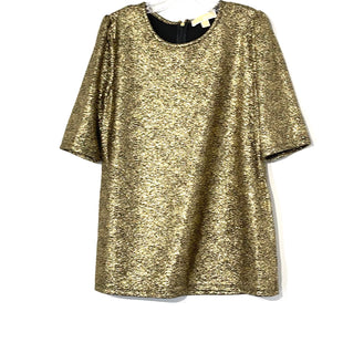 Primary Photo - BRAND: MICHAEL KORS STYLE: TOP SHORT SLEEVE COLOR: GOLD SIZE: L SKU: 262-26275-76578
