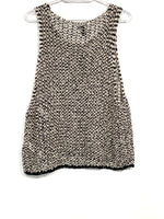 Photo #1 - BRAND: EILEEN FISHER <BR>STYLE: TOP SLEEVELESS <BR>COLOR: BLACK WHITE <BR>SIZE: XL <BR>SKU: 262-26275-65462<BR><BR>DESIGNER FINAL