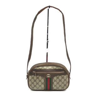 "Primary Photo - BRAND: GUCCI STYLE: VINTAGE HANDBAGCOLOR: MONOGRAM SIZE: SMALL 6""H X 9.6""L X 2.5""W DROP: 14""SKU: 262-26275-74933PRICE REFLECTS CONDITION AS SHOWN ON PHOTOS • FOR MORE DETAILS AND INFORMATION - PLEASE CALL OUR STORE AT 847 901 3270 •"