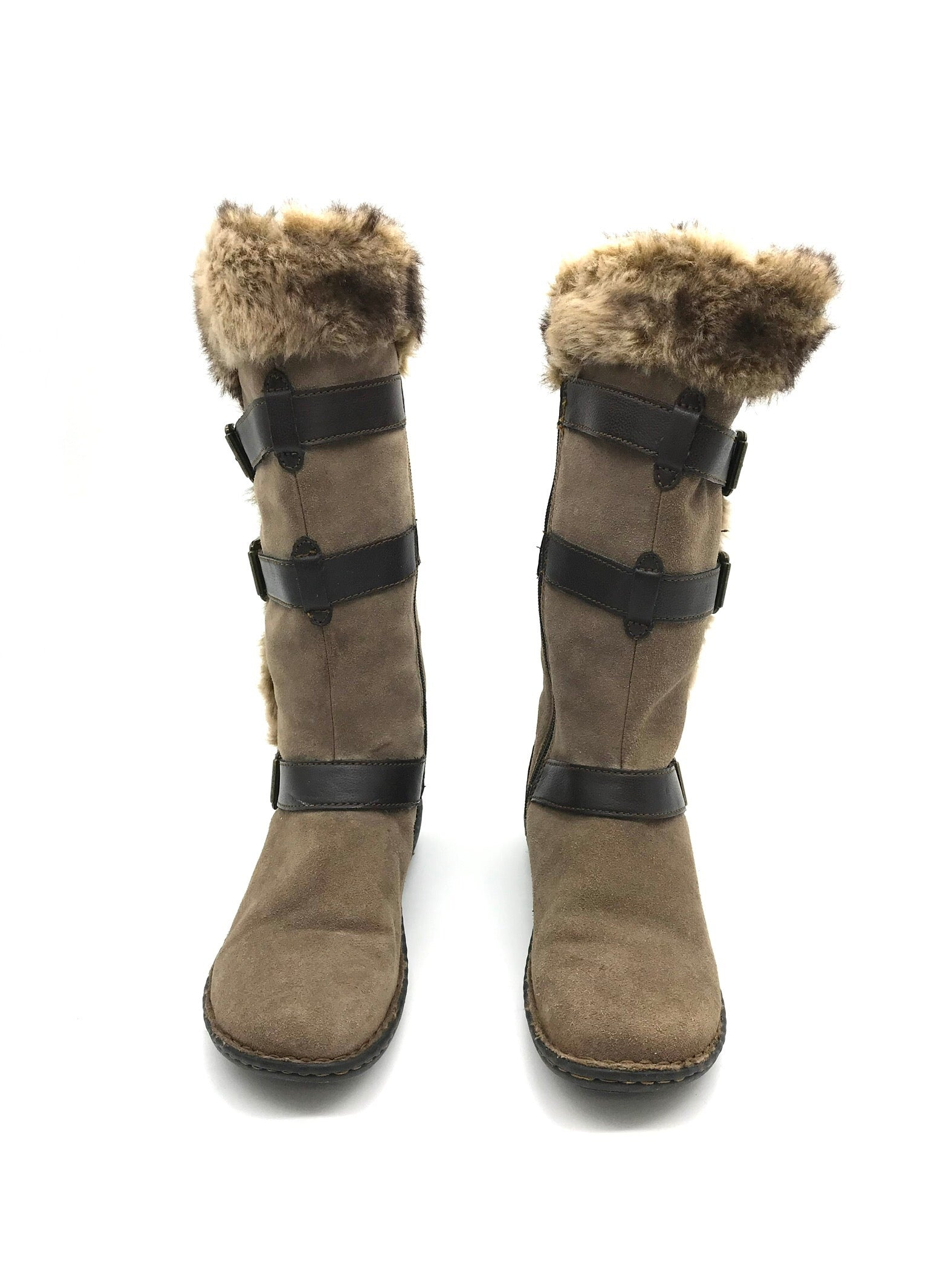 Photo #1 - BRAND: BOC <BR>STYLE: BOOTS ANKLE <BR>COLOR: BROWN <BR>SIZE: 8 <BR>SKU: 262-26275-73082<BR><BR>AS IS WEAR TO FABRIC, SMALL SPOTS