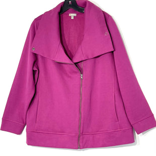 Primary Photo - BRAND: TALBOTS O STYLE: SWEATER CARDIGAN LIGHTWEIGHT COLOR: FUSCHIA SIZE: 2X SKU: 262-26275-76031