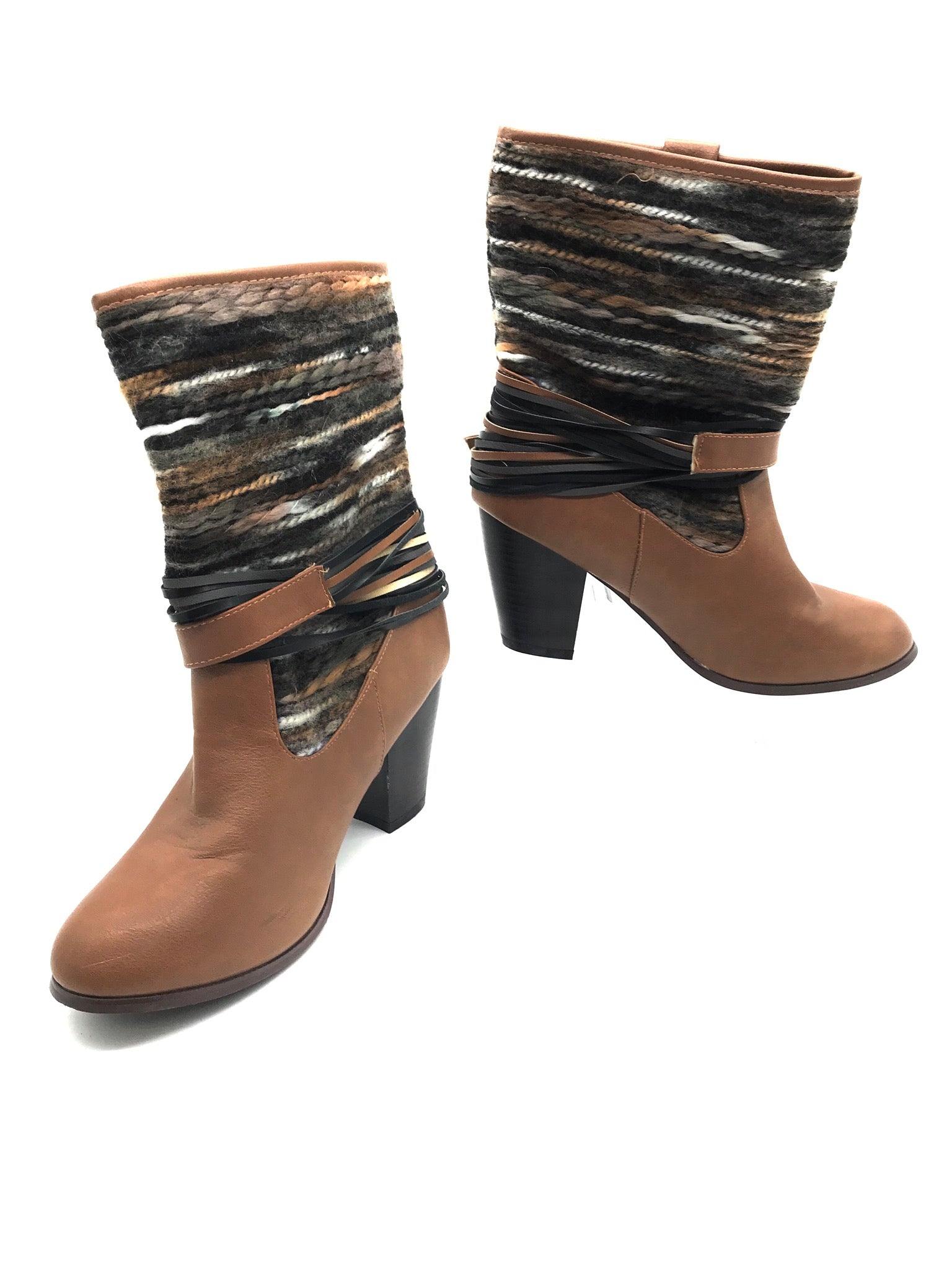 Primary Photo - BRAND: FRANCESCA'S <BR>STYLE: BOOTS ANKLE <BR>COLOR: BROWN <BR>SIZE: 8 <BR>SKU: 262-26275-67422