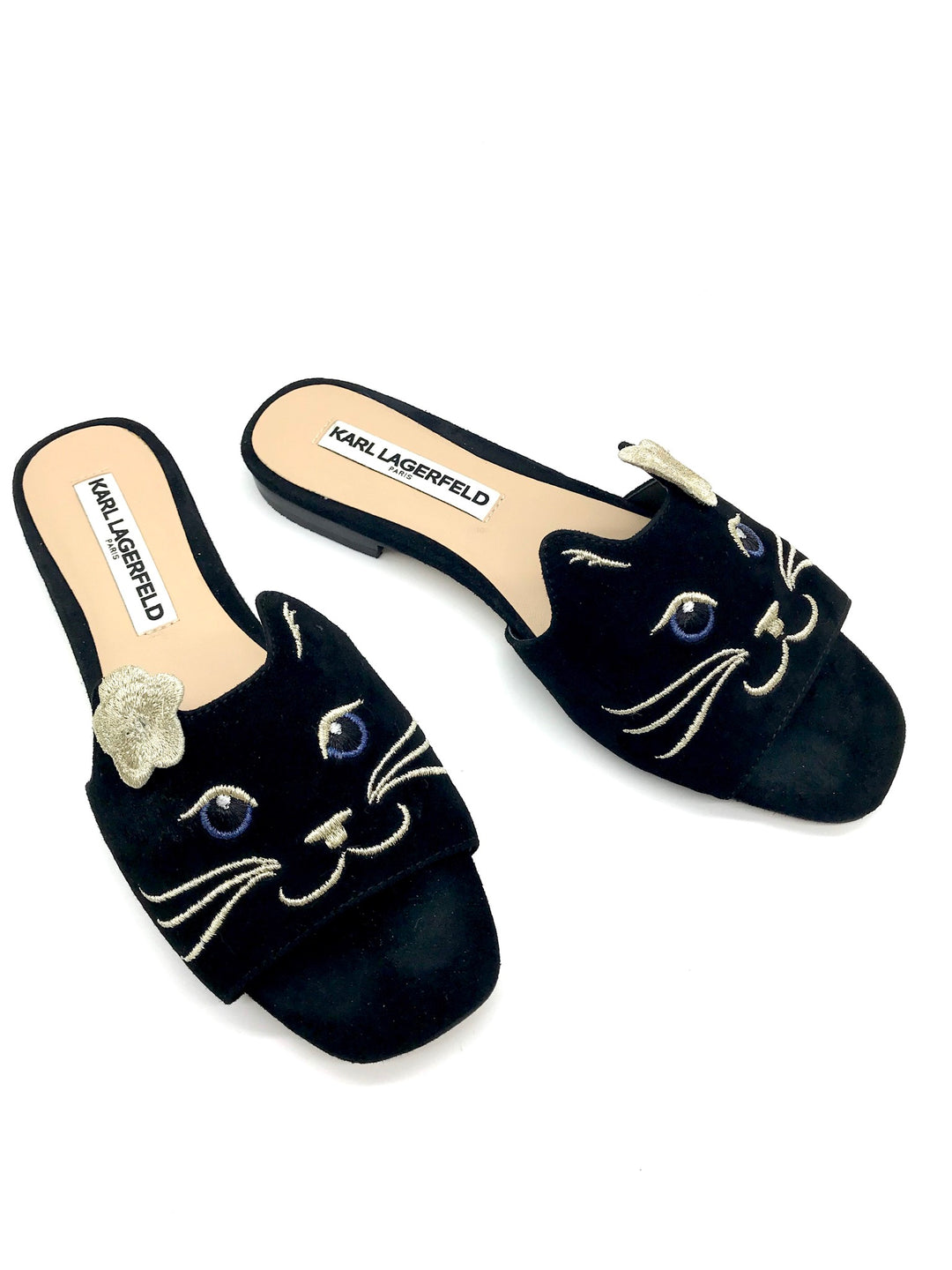 Photo #2 - BRAND: KARL LAGERFELD <BR>STYLE: SANDALS FLAT <BR>COLOR: BLACK <BR>SIZE: 6 <BR>SKU: 262-26275-65272<BR>GENTLE WEAR - AS IS